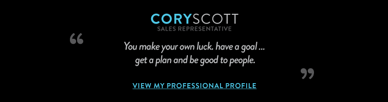 You make your own luck. Have a goal, 