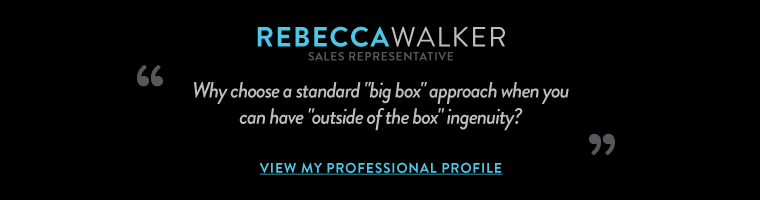 """Why choose a standard """"big box"""" approach  when you can have """"outside of the box"""" ingenuity?"""