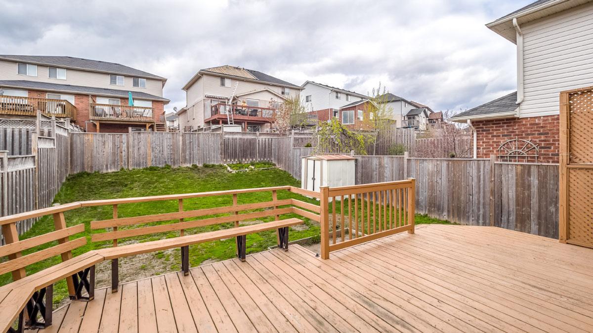 Deck looking into backyard