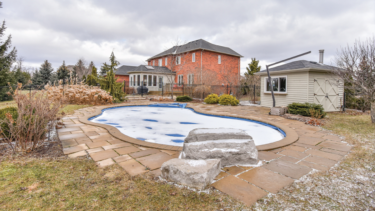 Picture of pool in yard